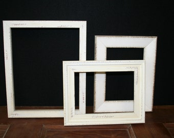 Set of 3 Distress Picture Frames - #112