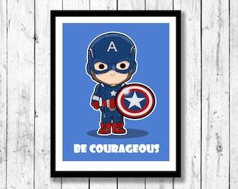 Supehero Inspired Wall Art-Captain America