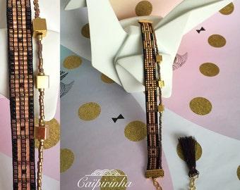 Miyuki Beads Bracelet weaving