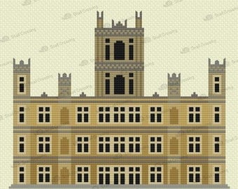 Downton Abbey -- Counted Cross Stitch Pattern PDF Download