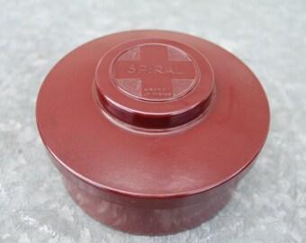 Vintage 50 red bakelite box