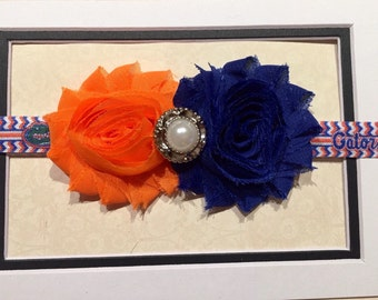 Baby Florida Gators Headband, baby girl, baby girl gators, newborn headbands, infant headbands, baby shower gift, baby gators fan