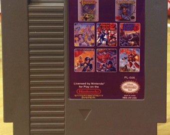 8 in 1 -  Nintendo NES Multi Game Cartridge - Castlevania, Megaman 1-6