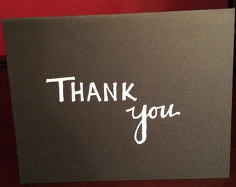 Thank you card (blank inside)