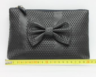 hand bag with bow