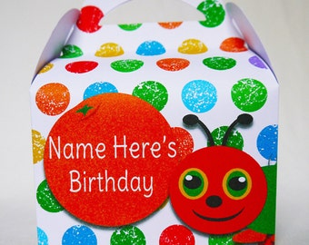 Hungry Caterpillar Personalised Children's Party Boxes Gift Bag Favour
