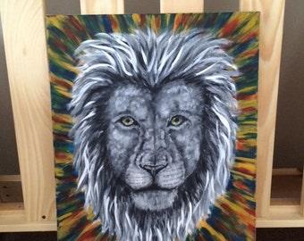 Lion Face - 16x20 Acrylic Canvas