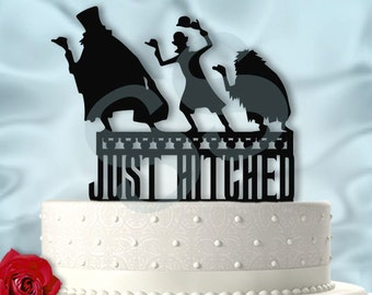Hitchhiking Ghosts Just Hitched Haunted Mansion Inspired Wedding Cake Topper