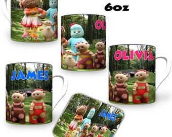 In The Night Garden Theme Childs Personalised Sublimation Printed Mug