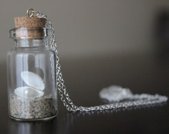 Bottle Necklace Mermaid Costume Cosplay Festival Accessory Beach Wedding Gift for Her Clam Pearl