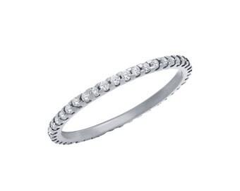 Silver Micro Pavè Eternity Ring