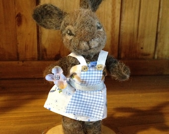 needle felted bunny, needle felted rabbit, needle felted animal