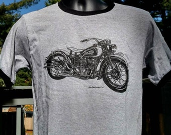 Vintage Indian Scout Motorcycle Tee