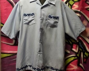 Dragonfly, surfer, straight hem men's shirt