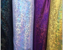 Shattered Glass Hologram Fabric Sold by Yard-Multiples Colors