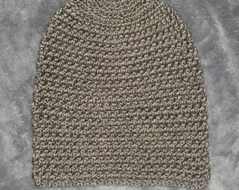 Brown Crocheted Slouch Hat