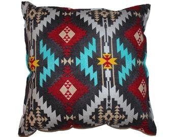 """Aztec Linen Pillow - 16"""" x 16"""""""