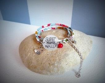 "liberty bracelet ""SUPER Grandma"""