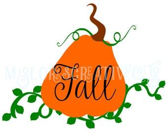 Pumpkin  Fall Halloween SVG Cut file  Cricut explore file vinesscrapbook vinyl decal wood sign cricut cameo Commercial use