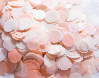 PEACH CONFETTI/peach &champange/wedding confetti ,birthday,table confetti ,confetti toss,ballon confetti,Bridal Shower, Baby Shower,Weddings