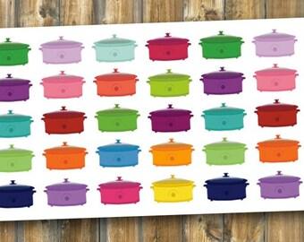 Crockpot Planner Stickers