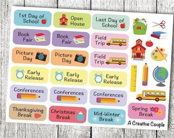 School Events Planner Stickers