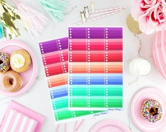 Sticky Stitched Ombre Squares - Circles