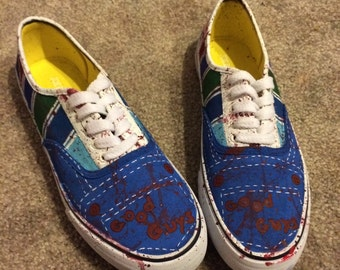 Custom hand painted canvas shoes