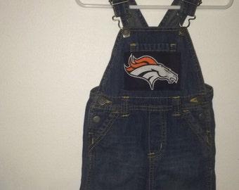 Denver Broncos Baby Overalls & Shoe set