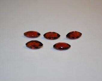 5 x 10 (1.52ct) Medium Red Orange Marquise Cut Spessartite Stone