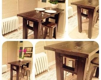 Solid wood kitchen bar