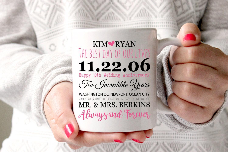 14 Year Wedding Anniversary Gift Ideas: 10th Anniversary Mug 10 Years Of Marriage Gift Anniversary