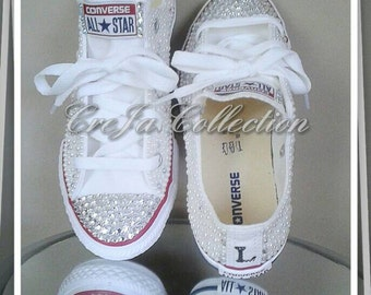 Pearl Converse, Wedding Converse, Wedding Shoes, Bridal Converse, Bridal Shoes, Bling Converse, Custom Converse, Women Shoes