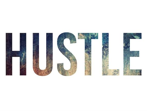 Hustle Print Hustle Wall Art Mens Office Decor Hustle Poster Office Desk  Accessories Motivational Wall Decor Man Cave Mens Gift For Men