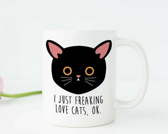 Cat Lover Gift Funny Cat Mug Funny Cat Gifts Cat Owner Gift Crazy Cat Lady Mug Kitty Mug Meow Mug Cute Cat Mug Black Cat Coffee Mug c211