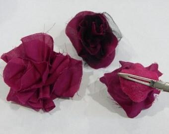 Magenta Rose Clip