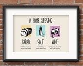 Bread Salt Wine, Housewarming Gift, Housewarming Gift Basket, Housewarming Blessing, New Home, House Warming Printable, Its a Wonderful Life