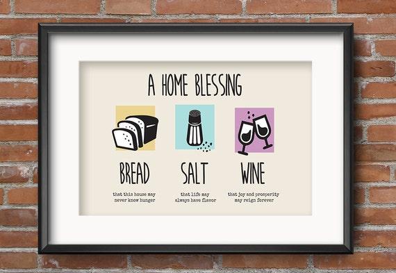 Bread salt wine housewarming gift housewarming gift basket