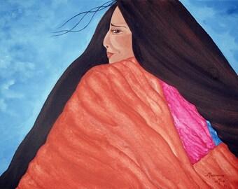 "Giclee Print Fine Art Paper Native American Print Surreal Print Metaphysical Print ""Known"""
