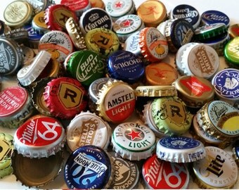 100 Assorted Recycled Beer Bottle Caps