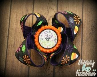 Halloween, Trick or Treat, Candy hairbow