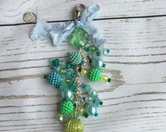 Chunky Charm for Junk Journal, Keychain, or Rearview Mirror