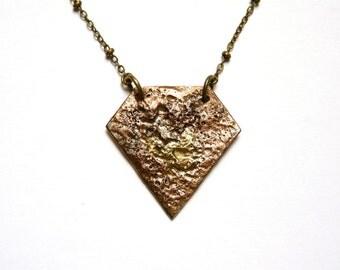 VULPECULA - Geometric & modern diamond necklace