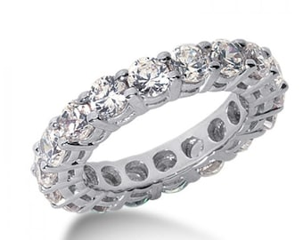 2.22 Carat (ctw) Ladies 14-k White Gold Diamond Eternity Band