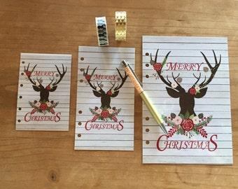 Christmas / reindeer dashboard / A5 planner / personal planner / pocket planner / happy planner / planner supplies / planner  accessories