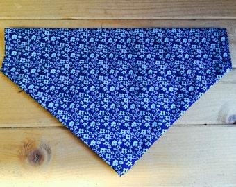 Dog Bandana - 'Blue Floral' design