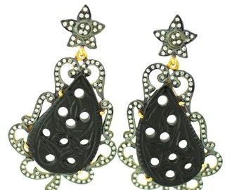 Rockstar Earrings/ Onyx Earrings/ Star Earrings/ Black Earrings