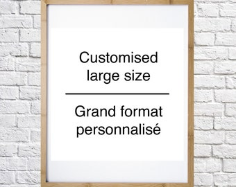 Customized large size file