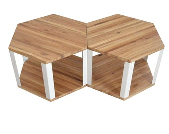 Hexagonal coffee table set