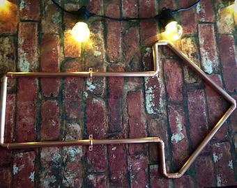 Arrow signage, copper, bars, restaurants, clubs, cafes, home